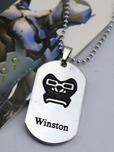 Anime Costumes AF-S2-642625 Overwatch Ow Winston Metal Tag Blizzard Video Game Metal Tag