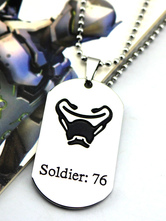 Anime Costumes AF-S2-642635 Overwatch Ow Solider 76 Y Metal Tag Blizzard Video Game Metal Tag
