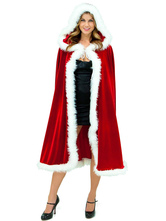 Anime Costumes AF-S2-642643 Christmas Sexy Costume Women's Red Fur Hooded Cloak