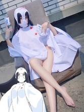 Anime Costumes AF-S2-643963 Shimoneta A Boring World Where The Concept Of Dirty Jokes Doesn't Exist Ayame Kajou Blue Snow Cosplay Costume White Cloak