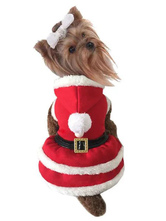 Anime Costumes AF-S2-644143 Pet Costume Christmas Santa Clothes For Dogs