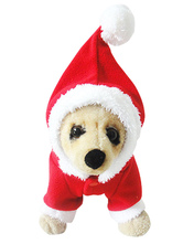 Anime Costumes AF-S2-644145 Santa Clause Dog Costumes Christmas Clothing For Pets