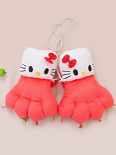 Anime Costumes AF-S2-644233 Kigurumi Pajamas Hello Kitty Paw Gloves Onesie Watermelon Animal Winter Gloves Costume For Adults