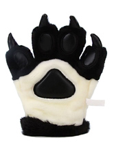 Anime Costumes AF-S2-644225 Kigurumi Pajamas Bear Paw Gloves Black Onesie Animal Winter Gloves Costume For Adults