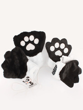 Anime Costumes AF-S2-644231 Kigurumi Pajamas Bear Paw Gloves Onesie Animal Winter Gloves Costume For Adults