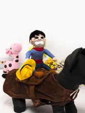 Anime Costumes AF-S2-644137 Cowboy Pet Costume In Dark Brown