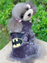 Anime Costumes AF-S2-644159 Flannel Batman Pet Costume In Deep Gray