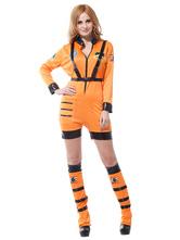Anime Costumes AF-S2-644897 Pilot Couples Costume Halloween Orange Pilot Costume