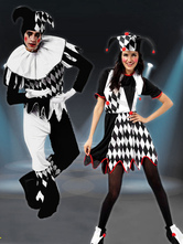 Anime Costumes AF-S2-644909 Carnival Couples Costume Clown Jumpsuit With Hat For Couple