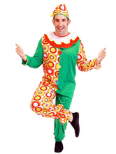 Anime Costumes AF-S2-644837 Carnival Clown Costume Circus Halloween Costume Satin Outfit Set For Men