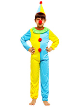Anime Costumes AF-S2-644815 Kids Clown Costume Outfits Multicolor Carnival Costume Jumpsuit With Hat