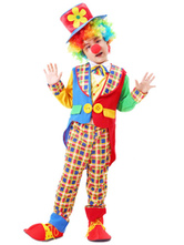 Anime Costumes AF-S2-644823 Carnival Clown Costume Circus Halloween Costume Outfit Set For Kids