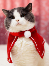 Anime Costumes AF-S2-644885 Santa Clause Pet Costume Red Cape For Cat