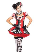 Disfraz Halloween Harley Quinn Jester Clown traje de circo Traje de carnaval de las mujeres Halloween