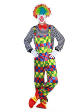 Anime Costumes AF-S2-644839 Carnival Clown Costume Circus Halloween Costume Jumpsuit With Hat For Men