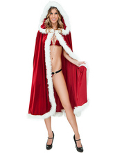 Anime Costumes AF-S2-645207 Sexy Christmas Santa Costume Red Hooded Cloak For Women