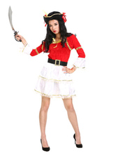 Anime Costumes AF-S2-646037 Red Pirate Costume Pirates Of The Caribbean Women's Dress Costume