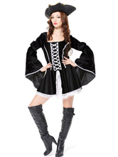 Anime Costumes AF-S2-646019 Black Women's Piratedress Costume Outfits