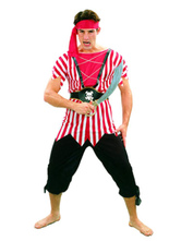 Anime Costumes AF-S2-646031 Men's Pirate Costume Pirates Of The Caribbean Captain Jack Cosplay