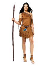 Anime Costumes AF-S2-646077 Halloween Sexy Costume Indian Women's One Shoulder Sash Tassels Costume Outfit