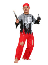 Anime Costumes AF-S2-646043 Men's Pirate Costume Red Pirates Of The Caribbean Costume