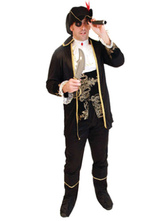 Anime Costumes AF-S2-646029 Pirates Of The Caribbean Captain Jack Costume For Men