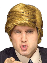 Anime Costumes AF-S2-646153 Trump Wig Costume Halloween US President Donald Trump Blond Wigs