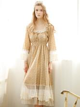 Anime Costumes AF-S2-646101 Halloween Retro Costume Jane Austen Pride And Prejudice Pastoral Ruffle Cotton Flare Dress