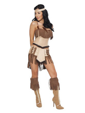 Anime Costumes AF-S2-646075 Sexy Halloween Costume Indian Women's Stylish Tassels Costume Outfit
