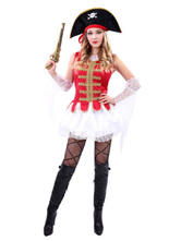 Anime Costumes AF-S2-646013 Red Pirate Costume Outfits For Women