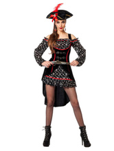 Anime Costumes AF-S2-646007 Black Women's Pirate Costume