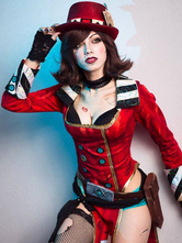 Anime Costumes AF-S2-646703 Borderlands Mad Moxxi Halloween Cosplay Costume Red Suit
