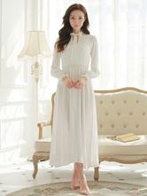 Anime Costumes AF-S2-646401 Vintage Country Costume Jane Austen Pride And Prejudice White Retro Dress