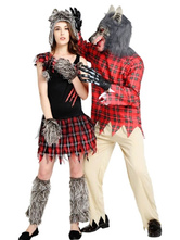 Anime Costumes AF-S2-646393 Halloween Couple Costume Wolfman Outfit Set In 7 Piece For Adult
