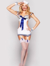 Anime Costumes AF-S2-646389 Halloween Couple Costume Navy Sailor Outfit Set In 6 Piece For Adult