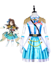 Anime Costumes AF-S2-646691 The Idolmaster Cinderella Girls Shibuya Rin Cosplay Costume Blue Stage Uniform
