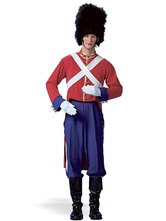 Anime Costumes AF-S2-646385 Halloween Couple Costume England Honour Guard Military Solider Outfit Set In 5 Piece