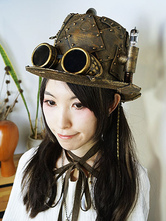 Anime Costumes AF-S2-648467 Steampunk Halloween Goggles Retro Glasses Bronze Costume Accessories