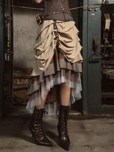 Anime Costumes AF-S2-648375 Women's Steampunk Skirt Vintage Victorian Costume Pleated Skirt