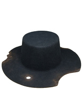 Anime Costumes AF-S2-648441 Halloween Steampunk Hat Men's Black Wool Steampunk Accessories