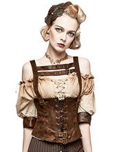 Anime Costumes AF-S2-648363 Women's Steampunk Cincher Vest Vintage Gothic Costume PU Waist Training Gilet