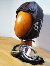 Anime Costumes AF-S2-648419 Steampunk Aviator Helmet Vintage Leather Cap Retro Costume Accessories