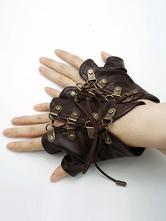 Anime Costumes AF-S2-648451 Halloween Steampunk Gloves Men's Brown Steampunk Accessories