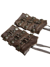 Anime Costumes AF-S2-648361 Vintage Steampunk Wristband Rock Style PU Oversleeve