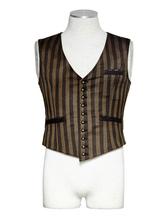 Anime Costumes AF-S2-648405 Men's Steampunk Vest Vintage Retro Costume Stripe Button Gilet