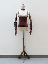 Anime Costumes AF-S2-648427 Halloween Steampunk Costumes Vintage Brown Shaping Top For Women