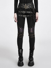 Anime Costumes AF-S2-648383 Women's Steampunk Pants Vintage Gothic Black Rivet Pants