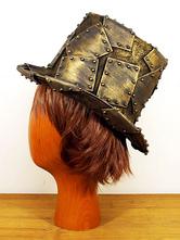 Anime Costumes AF-S2-648447 Halloween Steampunk Top Hat Men's Bronze Steampunk Accessories