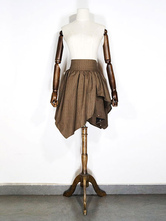 Anime Costumes AF-S2-648449 Halloween Steampunk Costume Brown Corset With Cotton Skirt
