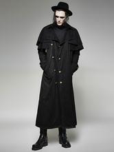Anime Costumes AF-S2-648399 Men's Steampunk Clothing Retro Costume Black Cape Coat
